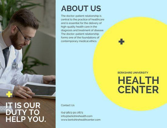 Light Blue Photo Medical Brochure - Templates by Canva