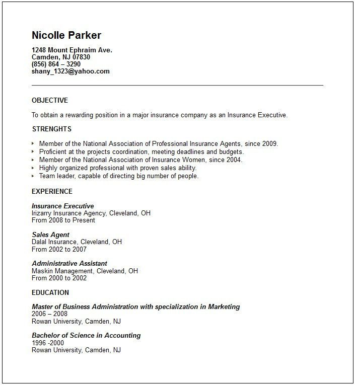 sample resume accounting no work experience free resume templates ...