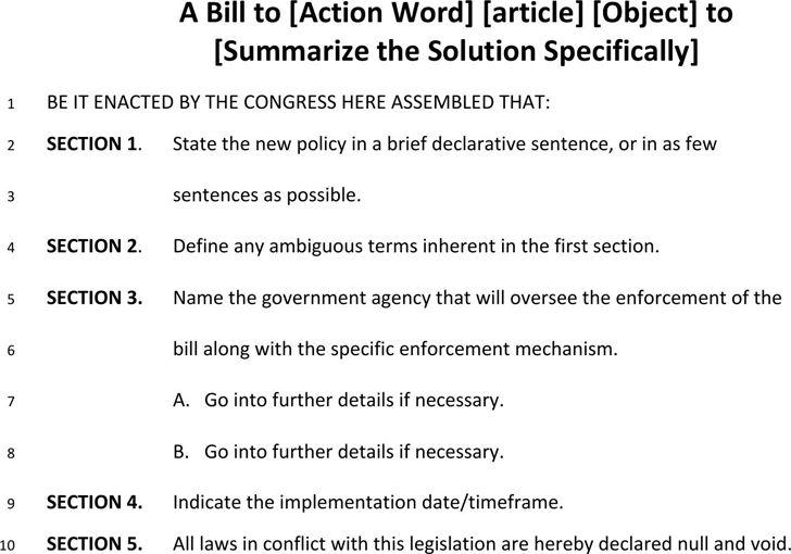 Free Bill Format - FormXls