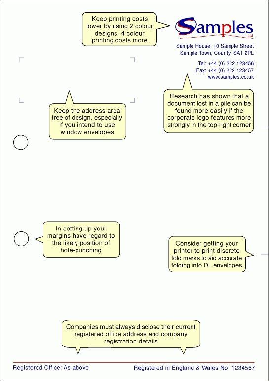 Letterhead Design - Info Sheet