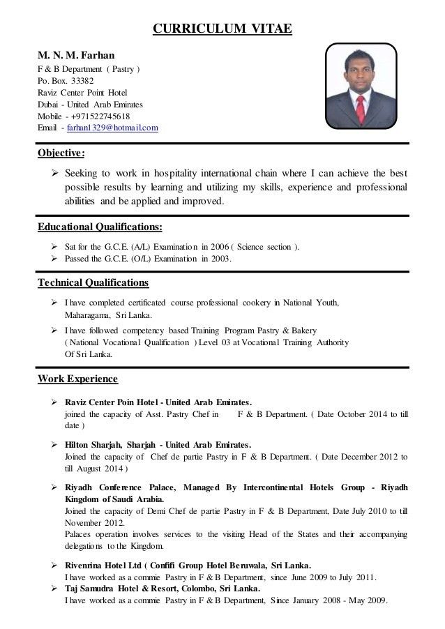sample resume for pastry chef pastry chef resume samples visualcv