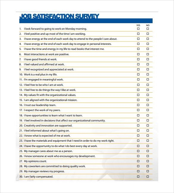 Sample Employee Satisfaction Survey. Action Plan Template Post ...