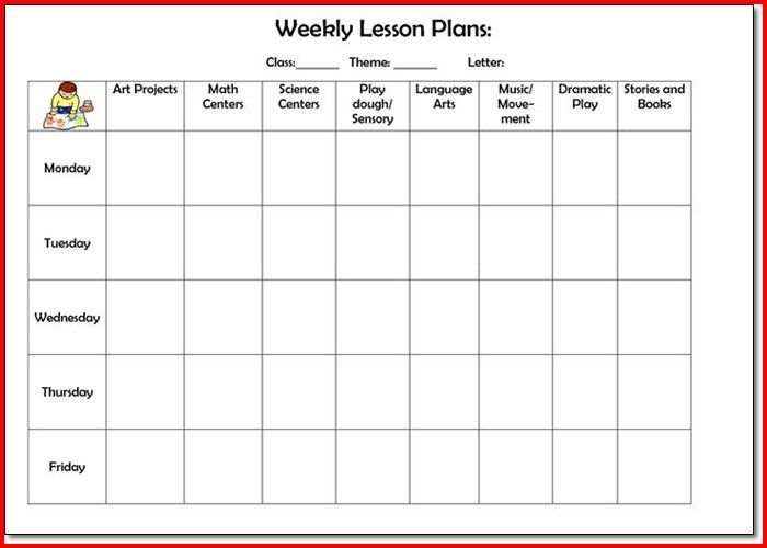 20+ [ Preschool Lesson Plan Template Blank ] | 12 Power Of ...