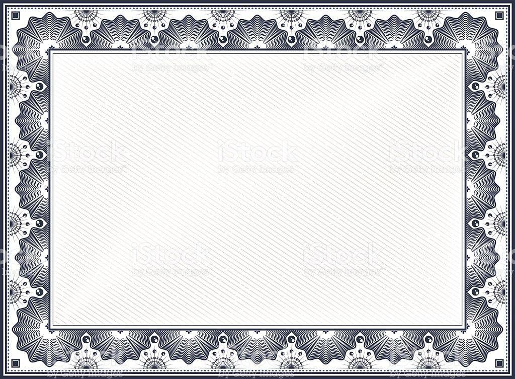 Certificate Border stock vector art 523944203 | iStock