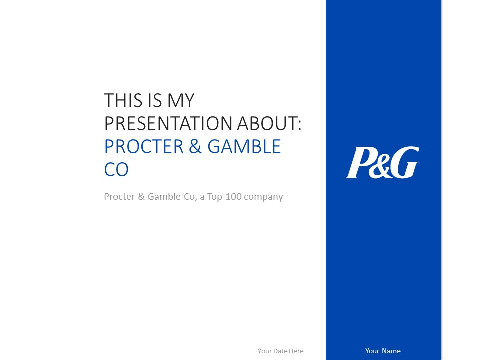 Procter & Gamble PowerPoint Template - PresentationGo