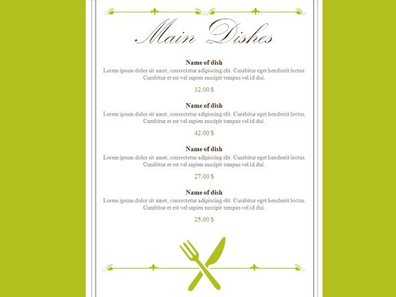 menu template for powerpoint best menu maker templates for word ...