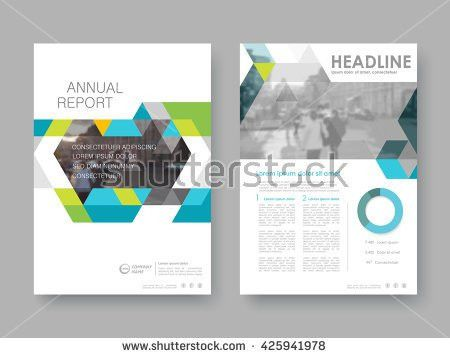 Annual Report Flyer Presentation Brochure Front Stock Vector ...