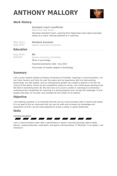Official Resume samples - VisualCV resume samples database