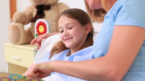 Girl / Pediatrician / Looking At | HD Stock Video 734-257-144 ...
