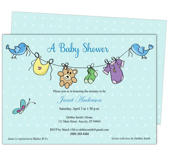 Free Baby Shower Invitation Templates For Word - iidaemilia.Com