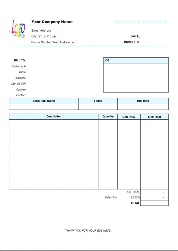 Invoice Forms Printable Free Template 9 Blank Templates Template ...