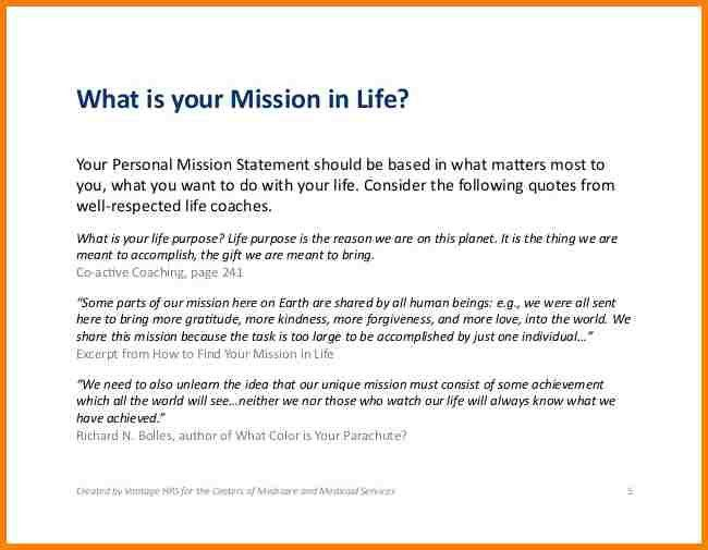5+ example of a personal mission statement | attorney letterheads