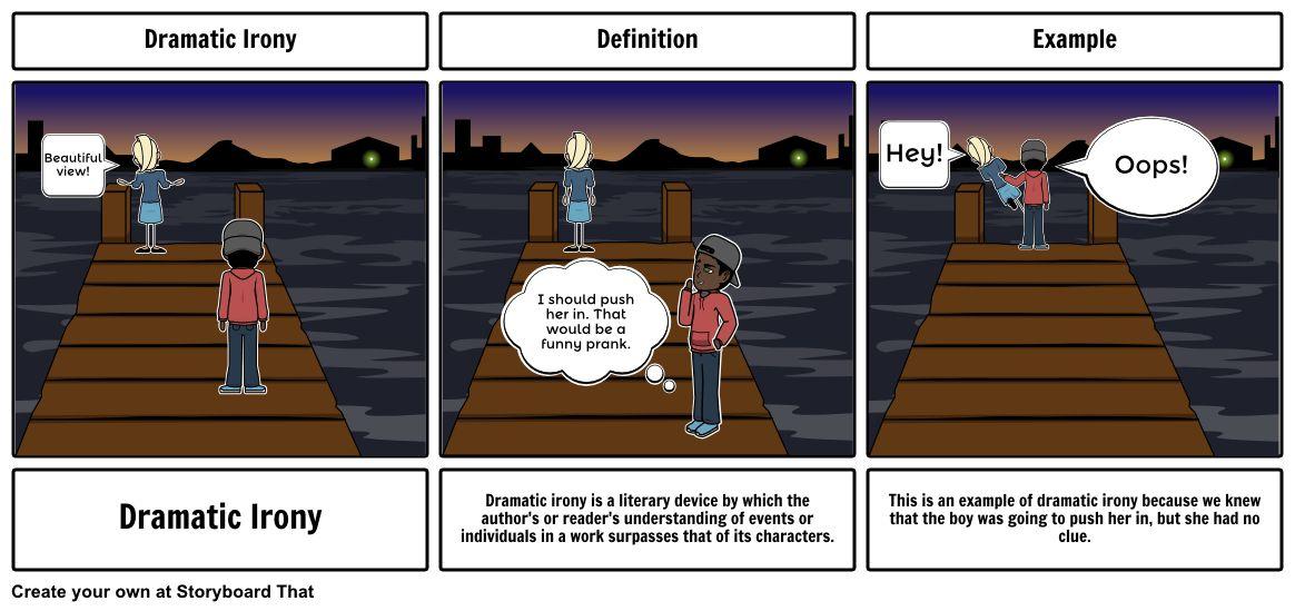 Dramatic irony Storyboard by cpozell