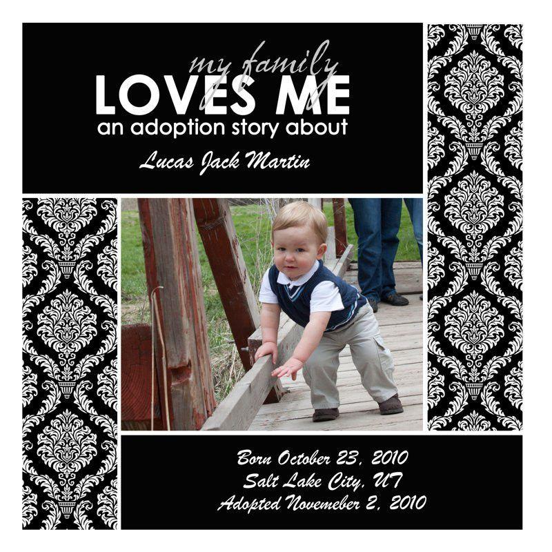 Photo Book Template: ADOPTION LOVE: An Adoption Storybook - Quick ...