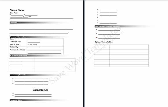 Resume Templates Archives - Save Word Templates