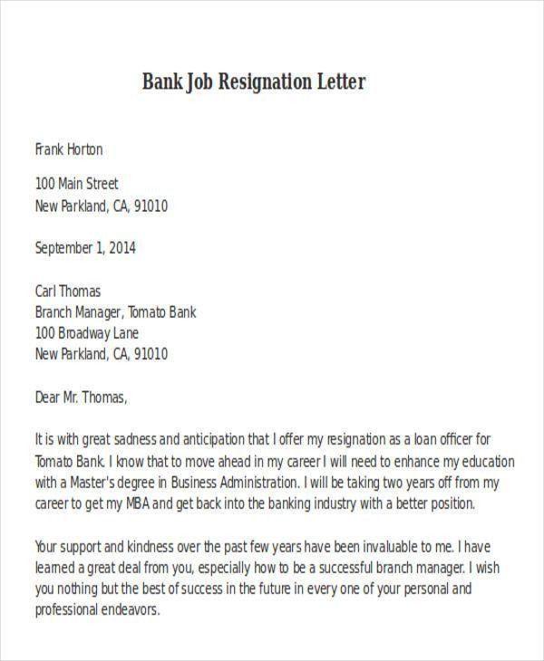 21+ Resignation Letter Format   Free & Premium Templates