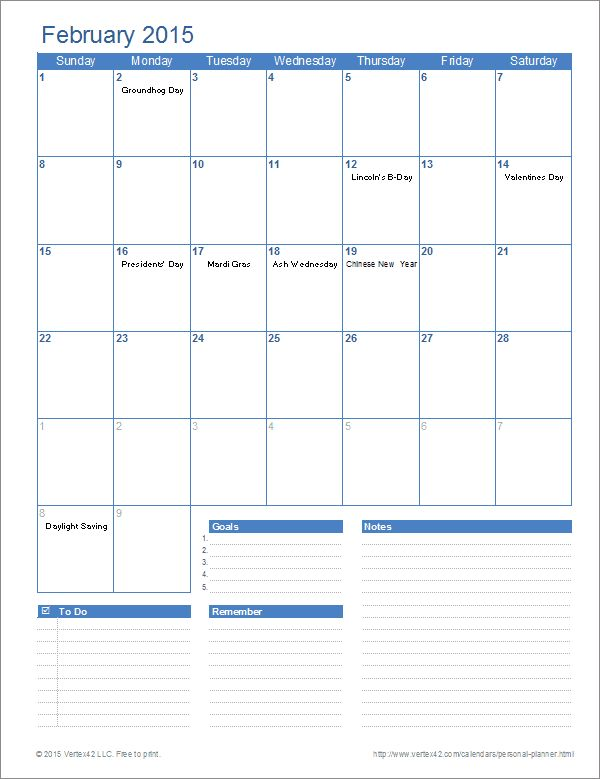 Ultimate Personal Planner Template for Excel