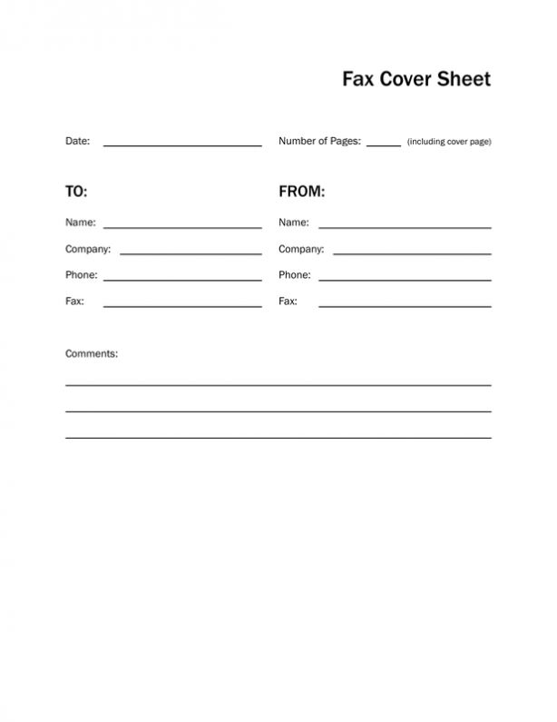 Printable Fax Cover Sheet & Letter Template