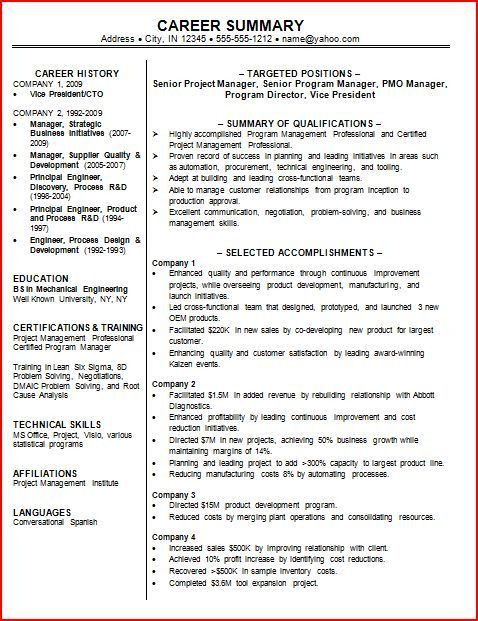 Perfect Resume Sample | berathen.Com