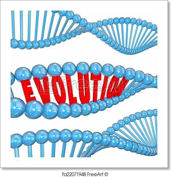 Free art print of Evolution Word Letters DNA Strand Family ...