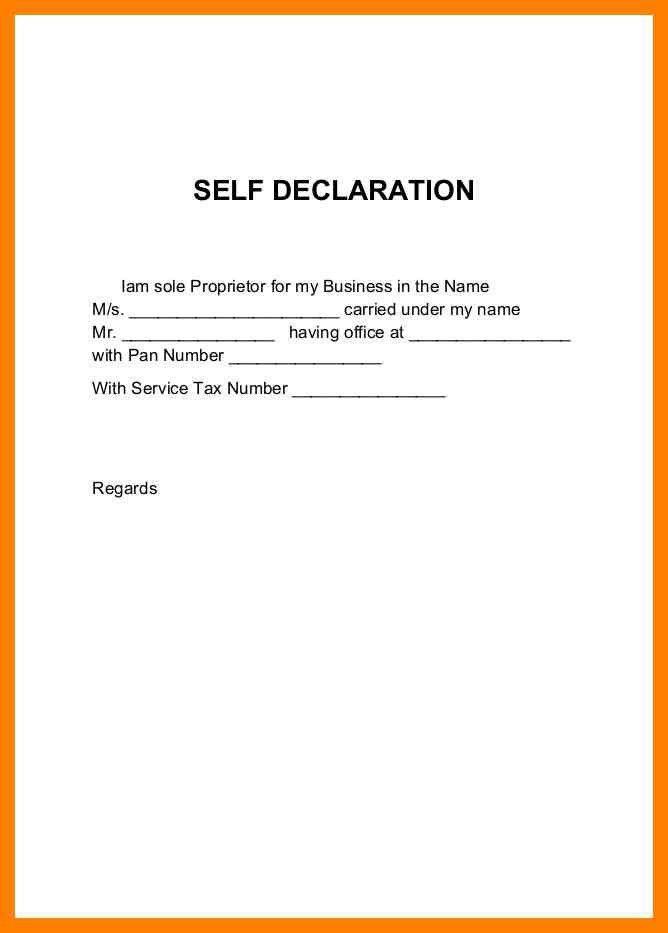 9+ self declaration letter   simple cv formate