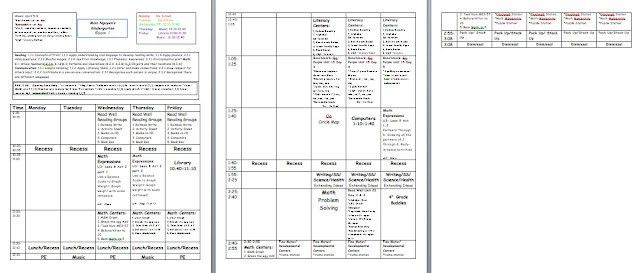 Lesson plan template. Has spot to put common core standards ...