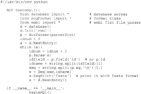Example python script to parse all the entries in the GENBANK ...