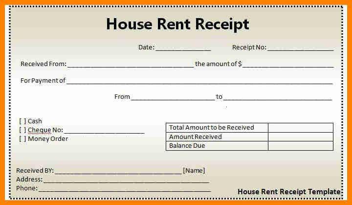 House Rent Receipt Format Pdf, 10 free rent receipt templates #54 ...