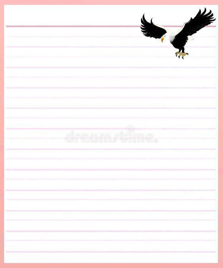 Eagle On Pink Color Lined Paper Royalty Free Stock Photo - Image ...