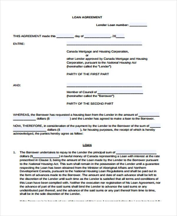 25+ Loan Agreement Forms | Free & Premium Templates