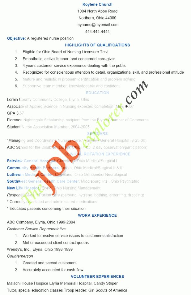 cover letter Nursing Resumes Objectives er nursing resume ...