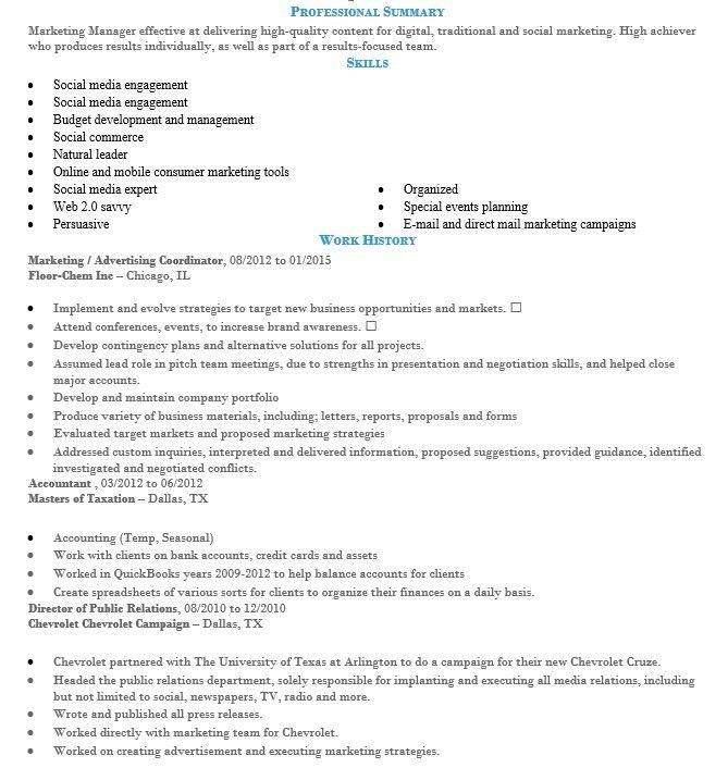 16 Free Sample Advertising Coordinator Resumes – Sample Resumes 2016