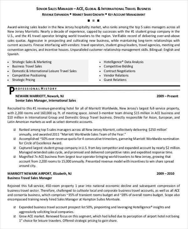 Sales Resume - 29+ Free Word, PDF Documents Download | Free ...