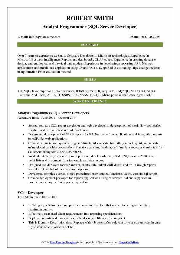 Programmer Analyst Job Description. Cognizant Off-Campus Freshers ...