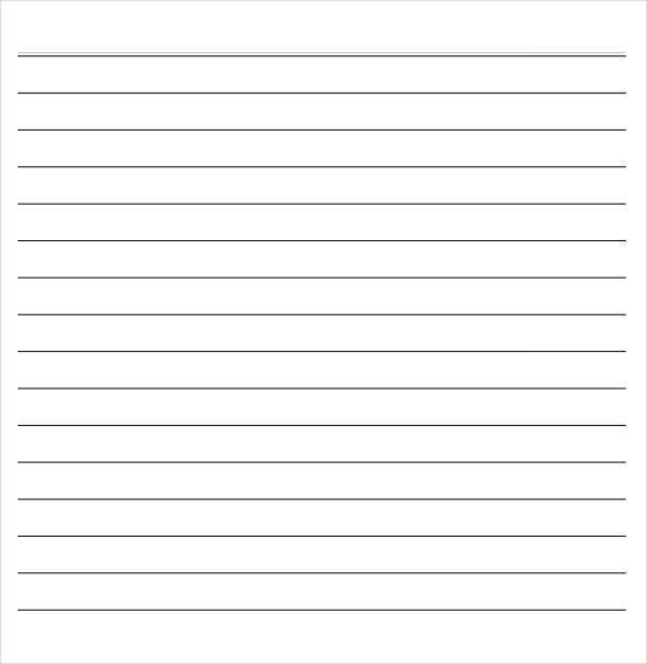 Notebook Paper Template For Word Notebook Paper 9 Download – Notebook Paper Download