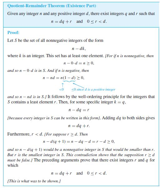 elementary number theory - Proving the existence part of the ...