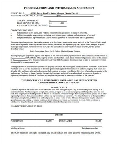 Sample Sales Proposal Forms - 8+ Free Documents in PDF