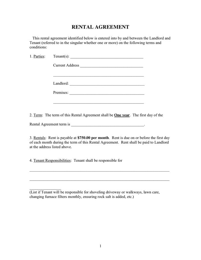 Rental Contracts Templates. car rental contract template ...