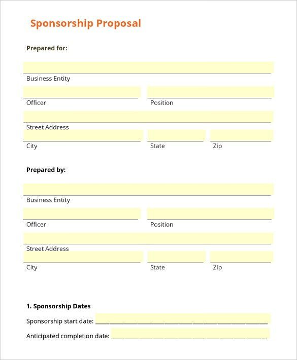 Sponsorship Letter Template – 8+ Free Word, PDF Documents Download ...