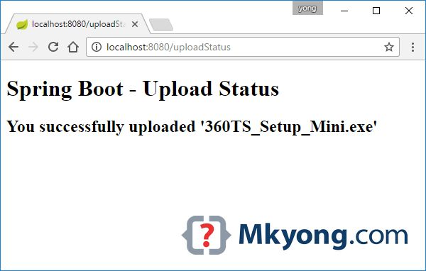Spring Boot file upload example