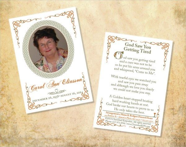 15+ Funeral Card Templates   Free PSD, AI, EPS Format Download .