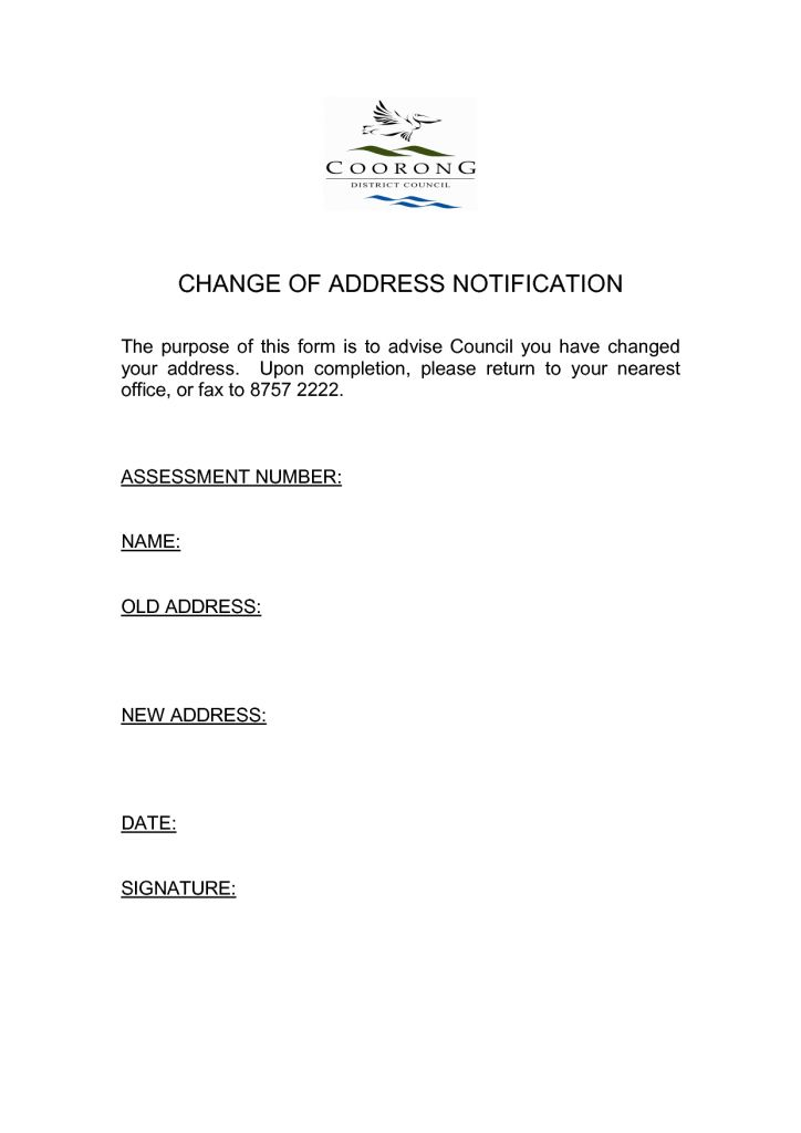 Free Change Of Address Customer Complaint Form Template Word ...
