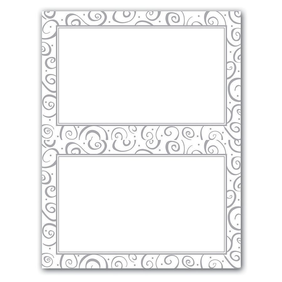 Gartner Studios 2 Up Invitations 5 12 x 8 12 Silver Swirl Pack Of ...