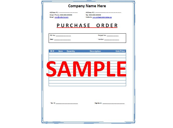 Purchase Order Acceptance Letter Sample