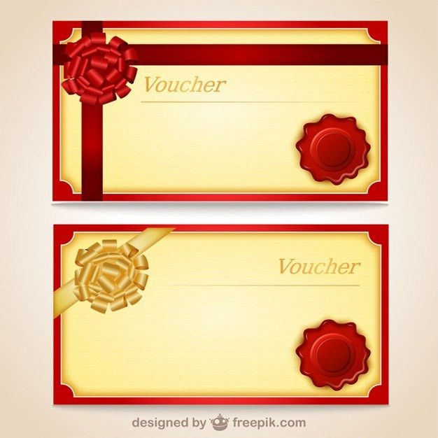 Grunge gift voucher templates Vector | Free Vector Download In .AI ...
