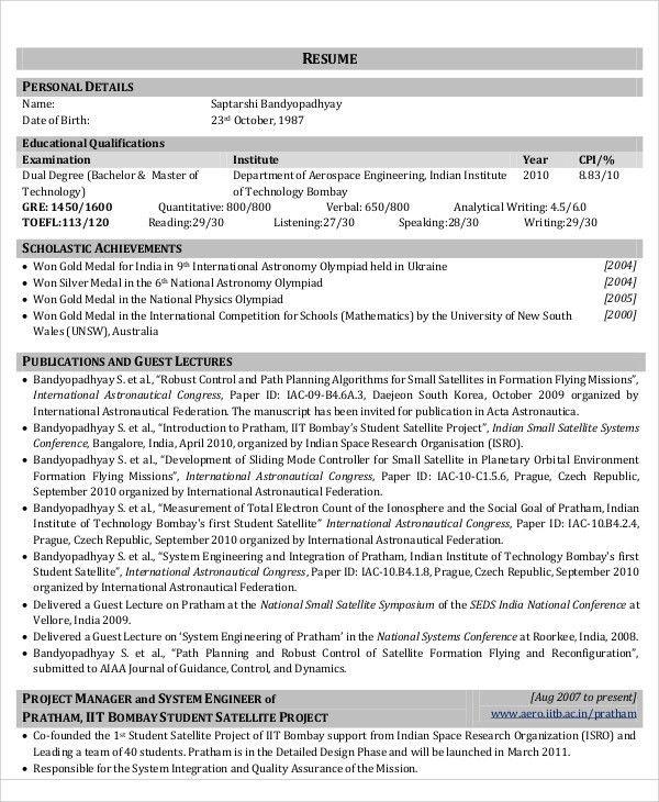 54+ Engineering Resume Templates | Free & Premium Templates