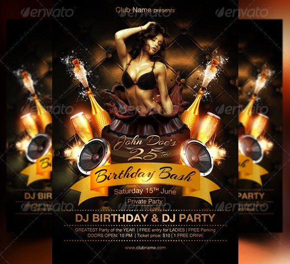 20 Cool Birthday Flyer PSDs – Desiznworld