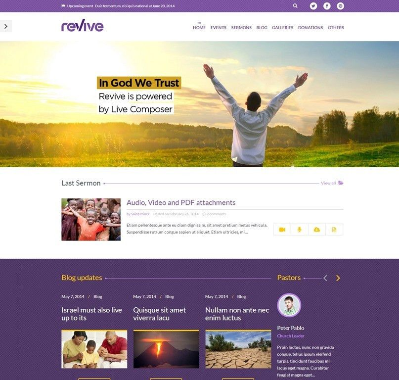 10 Top Interesting Church Website Templates For WordPress -