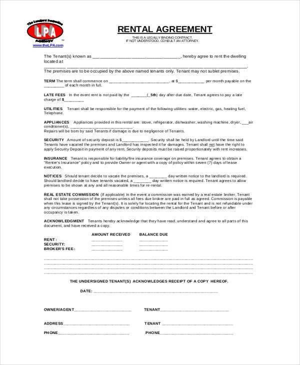 7+ Commercial Rental Agreement Form Samples - Free Sample, Example ...