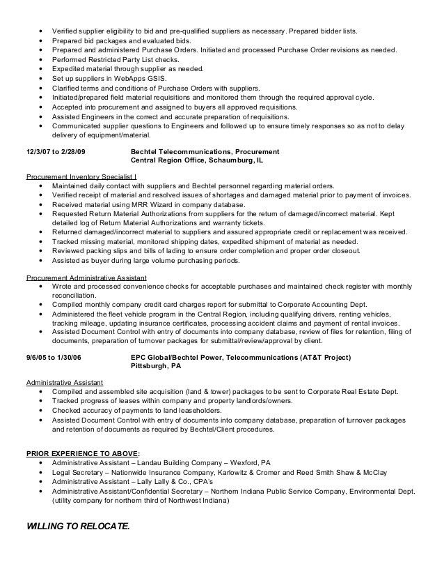 Buyer, Expeditor - C. Sikora Resume